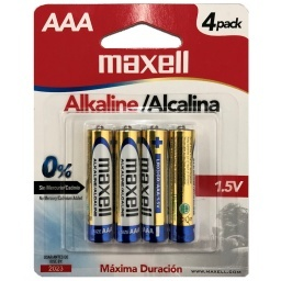 PILAS ALCALINAS MAXELL X4 1.5 V AAA
