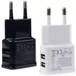CARGADOR DOBLE 2 USB PARED SAMSUNG COMPATIBLE 2A