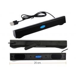 MINI PARLANTE USB SPEAKER TIPO SOUNDBAR XB-19 NOTEBOOK BARRA PC