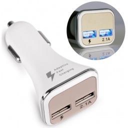 CARGADOR DOBLE PUERTO USB AUTO CARGA RAPIDA FAST CHARGER TODOS LOS CELULARES Y TABLETAS