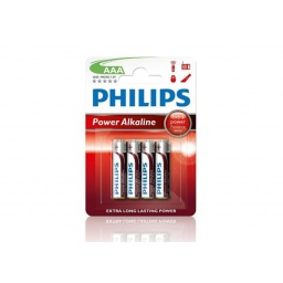 PILAS ALCALINAS PHILIPS AAA 1.5 V ROJAS PACK X4