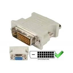 ADAPTADOR O CONVERSOR DVI-D 24+1 MACHO A VGA 15 HEMBRA