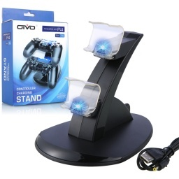 BASE DOCK DOBLE CARGADOR STAND CONTROL JOYSTICK PLAY 4 PS4