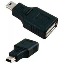 ADAPTADOR DE MINI USB 5 PIN MACHO A USB HEMBRA OTG