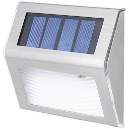 MINI LUZ LED SOLAR PARA PISO O ESCALONES DE ACERO INOXIDABLE