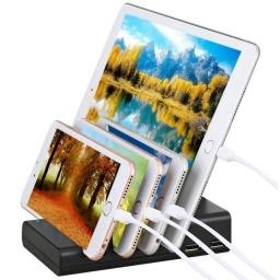 CARGADOR MULTIPLE CON 4 USB SOPORTE PARA CELULARES TABLETAS