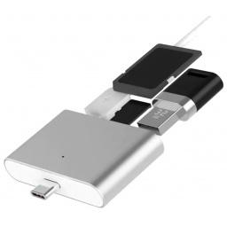 LECTOR USBC TIPO C MACHO A USB 3.0 TARJETA SD Y MICRO-SD 3 EN 1 USB-C