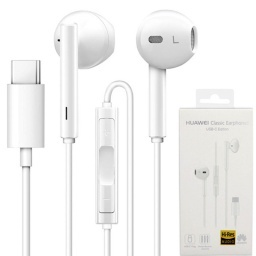 AURICULAR STEREO MANOS LIBRES HUAWEI CLASSIC EARPHONES USB-C TIPO TYPE C