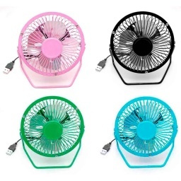 MINI VENTILADOR USB CON PIE INCLINABLE AJUSTABLE 12CM (CHICO)