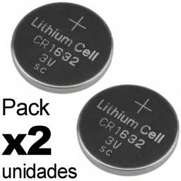 PILA BATERIA CR1632 1632 3V LITHIUM CONTROL REMOTO PACK X2