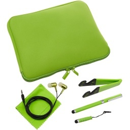 ESTUCHE FUNDA SOBRE NEOPRENO 10 TABLET NOTEBOOK KIT 6 EN 1 +SOPORTE+2 LAPICES+AURICULARES+PAÑO