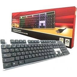 TECLADO CON LUCES LED RGB EN ESPAÑOL USB 2.0 ZK803