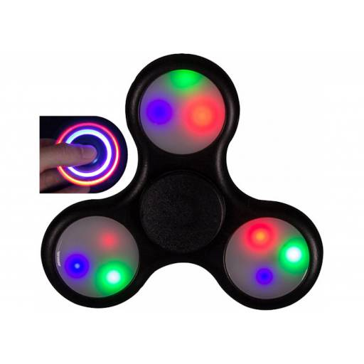 FIDGET HAND SPINNER ANTI ESTRES COLORES CON LED