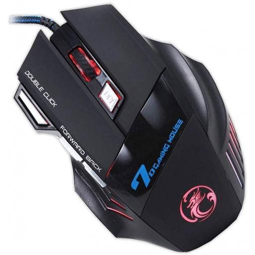 MOUSE GAMER X7 2400 DPI USB CABLE ACORDONADO 7D 7 BOTONES