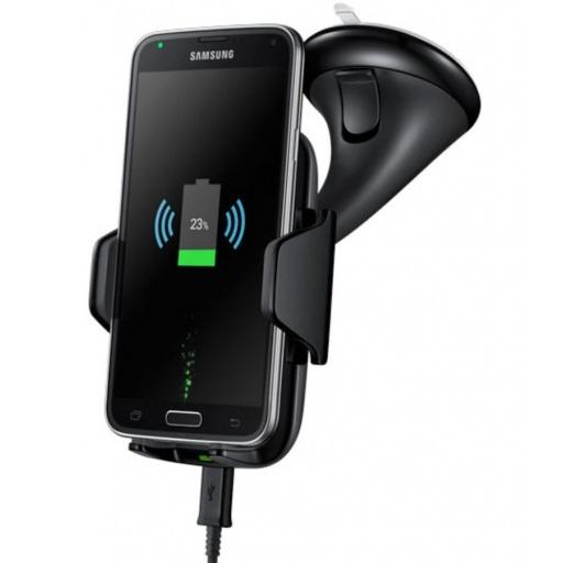 SOPORTE DE AUTO C/ CARGA INALAMBRICA QI IPHONE X 8 PLUS S7 S8 S9 NOTE CARGADOR