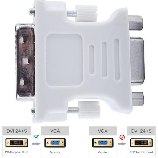 ADAPTADOR O CONVERSOR DE DVI D 24+5 MACHO A VGA 15 HEMBRA