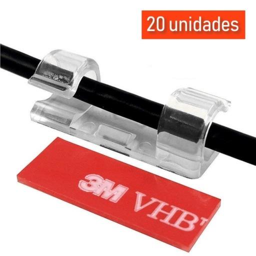 ORGANIZADOR PARA CABLE O GUIA ACOMODAR CABLES 20 UNIDADES