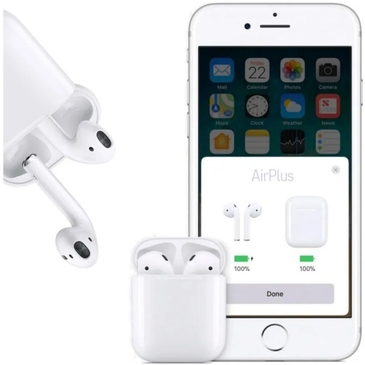 AURICULARES BLUETOOTH SIMIL AIRPODS IPHONE + CAJA DE CARGA XY PODS - AIRPLUS - AIRPRO