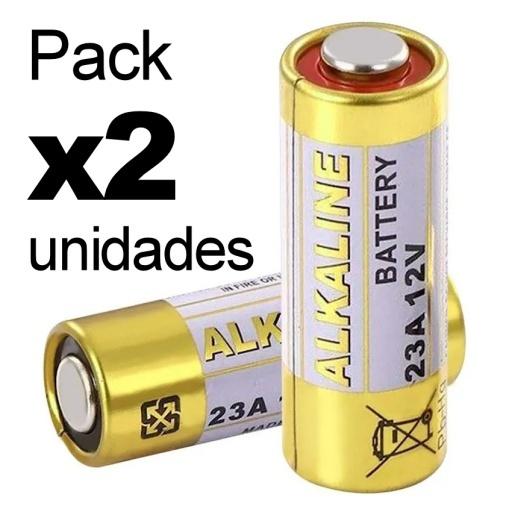 PACK X2 PILAS GN ALCALINA 23A 12V L1028 MN21 PARA CONTROL ALARMA PORTON