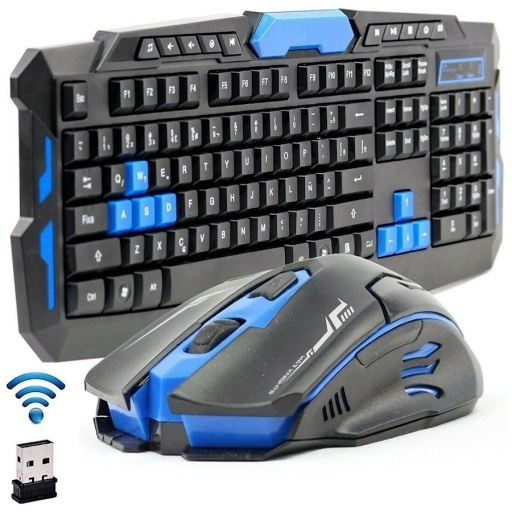 COMBO TECLADO + MOUSE GAMER INALAMBRICO GAMING HK8100 WIRELESS 2.4GHZ