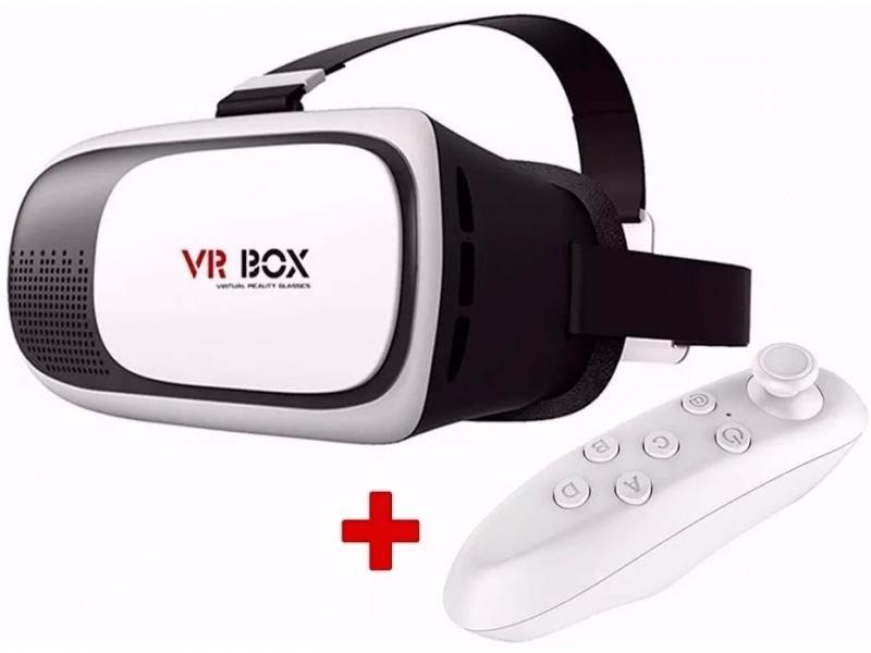 LENTES 3D VRBOX CARDBOARD CON CONTROL BLANCO